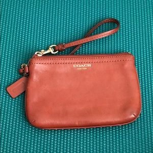 Coach small wristlet with strap